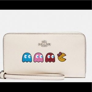 Coach Pac-Man print wallet in ivory